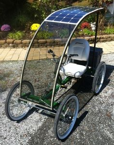 Screw golf-carts. I want one of these! For what? I dunno. Toolin' around my Florida retirement community when I'm old. (1-Person, 4-Wheel SportPed e-One Quadricycle | Rhoades Car)