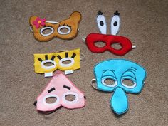 Hey, I found this really awesome Etsy listing at https://www.etsy.com/listing/175503914/sponge-bob-party-mask-set