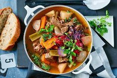 Colin Fassnige's healthy Irish stew is 100 per cent pure comfort Make Ahead Meals, Easy Meals, Freezable Meals, Pickled Red Cabbage, Freezer Friendly Meals, Freezer Meals, Irish Stew, Midweek Meals, Weeknight Dinners