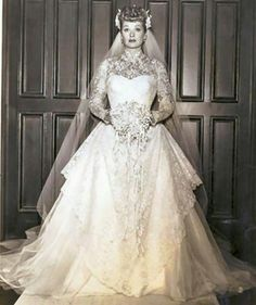Love this dress...Lucille Ball's wedding day