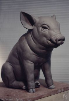 Pig, Sculpture by aaronsimscompany.deviantart.com on @DeviantArt