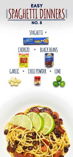 Spaghetti with Chorizo, Black Beans, and Lime | 19 Delicious Spaghetti Dinners
