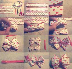 DIY lovely hair bow clip. Craft ideas from LC.Pandahall.com                                         #pandahall
