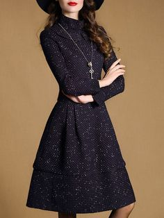 Woven Tweed Midi Dress- tweed, because some days you want to stay in with a cup of hot cocoa but you can't  :-)