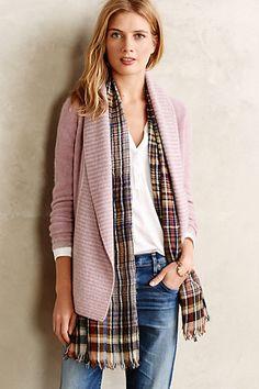 Layer with scarf..Dulcinea Cashmere Cardigan #anthropologie