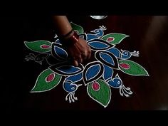 Simple and easy peacocks rangoli Dot's. Easy chukkala muggu Simple and easy peacocks rangoli Thanks for watching🙏🙏 Please👍share comment below for mor. Lotus Rangoli, Peacock Rangoli, Kolam Rangoli, Easy Rangoli, Rangoli Borders, Rangoli Border Designs, Kolam Designs, Simple Rangoli Designs Images, Rangoli Designs With Dots
