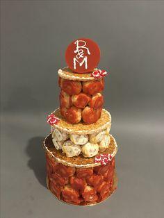 Gâteau de fiancailles choux mangue framboise par l'atelier Gourmand à Orcines