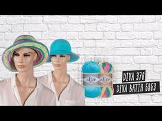 Alize Diva ile Yazlık Şapkalar - Summer Hats with Alize Yarns - YouTube