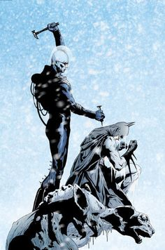 Jae Lee - Batman and Freeze It's the freakin batman with the coldest mofo in comics... Awesome