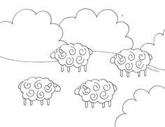 Barnyard Sheep Coloring Page