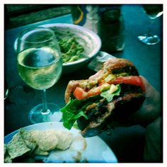 burger wine guacamole ~ epic meal