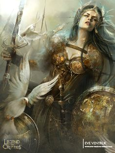 Artist: Eve Ventrue aka EVentrue - Title: Goddess of Victory - Card: Lord of Salvation Albiga (Subduer)