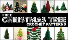 Crochet Treasures: 10 Free Christmas Tree Crochet Patterns