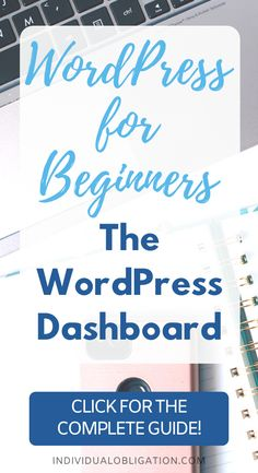 Starting a blog? This blogging for beginners WordPress tutorial will cover all the WordPress tips you need to know to use the WordPress dashboard. The WordPress admin dashboard is what controls your WordPress blog settings and design. Which is why it is so important to learn this tutorial. This blogging tips 101 guide will show you how to use and customize your WordPress dashboard as a WordPress beginner blogger. #WordPress #Blogging #BloggingForBeginners #StartABlog #WordPressTips #BlogTips
