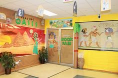 Welcome To The 'Reading Oasis'! | Egyptian Themed Displays
