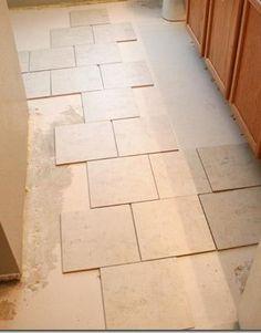 tips for installing a tile floor from Remodelaholic.com #tile #flooring #tips @Remodelaholic .com .com .com .com .com .com