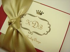 That crown. Personalized Stationery Gift Set Elegant by inkpartyemporium