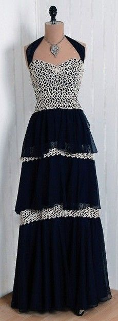 1930's Tiered Skirt Dress - @~ Mlle