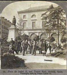Spain - 1936. - GC - Caminando por Madrid: La Plaza de Isabel II, también llamada de la Ópera