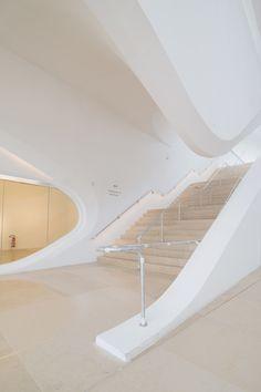Santiago Calatrava museum of tomorrow museu do amanha rio de janeiro. Stairs Architecture, Chinese Architecture, Futuristic Architecture, Amazing Architecture, Architecture Design, Organic Architecture, Santiago Calatrava, Zaha Hadid Architects, Famous Architects
