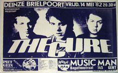 The Cure live concert: 14.05.1982 Deinze - Brielpoort (Belgium)