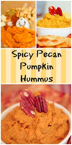 A healthy and delicious alternative to traditional hummus, this Spicy Pecan Pumpkin Hummus is to die for!