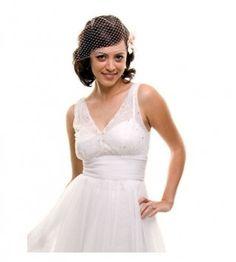 50's Style White Tulle Wedding Dress9704-ch96055 Wedding Dress $112 size 16