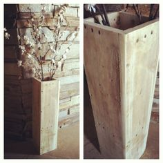 Rustic pallet floor vase 2 ft tall (Like our Rusty Rake Originals page on Facebook)