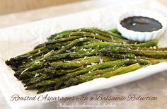 Melissa's Southern Style Kitchen: Roasted Asparagus with a Balsamic Reduction