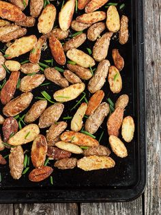 Crispy Roasted Parmesan and Chive Fingerling Potatoes
