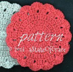Dishcloth PATTERN 3 Washcloth Coaster Doily Hotpad | Etsy Crochet Gifts, Hand Crochet, Crochet Baby, Free Crochet, Crochet Coaster, Crochet Shawl, Pdf Patterns, Crochet Patterns, Crochet Ideas