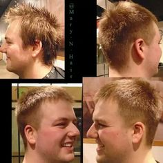 Men's haircut with a slight fade.  #yxe #yxesalon #yxehair