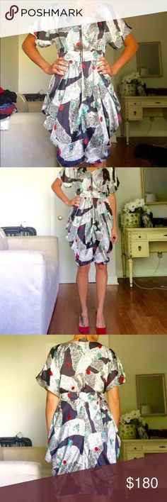 Multicolor Silk dress🍒 Tag Say D & G but I'm not sure :) Dresses Midi