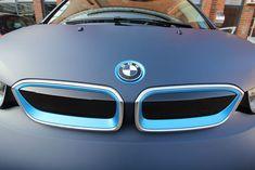 BMW I3 - 3M Matt Dark Navy | Nato Oliv Car Wrapping Bmw I3, Honda Logo, Car Wrap, Dark Navy, Wrapping, Wraps, Vehicles, Car, Rolls