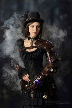 Wondering what is Steampunk? Visit our website for more information on the latest with photos and videos on Steampunk clothes, art, technology and more. Chat Steampunk, Moda Steampunk, Style Steampunk, Steampunk Couture, Steampunk Cosplay, Victorian Steampunk, Steampunk Diy, Steampunk Clothing, Steampunk Fashion