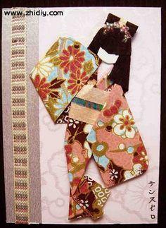 Teresita Suselo 的日本手工纸纸艺娃娃