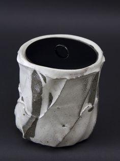 Shozo Michikawa    Mizusashi   Stoneware with Kohiki glaze 6 x 6 x 6 inches / 15.2 x 15.2 x 15.2 cm / SMi 9
