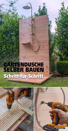 Gartendusche selber bauen Would you like to cool down? Then our do-it-yourself garden shower is just House Plants Decor, Plant Decor, Indoor Garden, Home And Garden, Garden Shower, Back Gardens, Garden Design, Pergola, Backyard