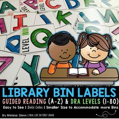 This pack includes library labels with guided reading and DRA levels. Easy to See | Bright Colors | Smaller Size Accommodates More BinsI like to organize the books in my classroom library by level and by genre/theme. The labels in this pack are for organizing your books by level.What's Included:- Library Book Bin Labels for Guided Reading Levels- Library Book Bin Labels for DRA LevelsJust print and cut!NOTE: These labels are not meant to be printed on actual labels.