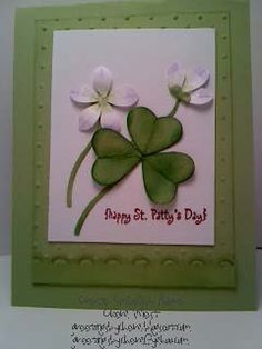 handmade St. Patrick's Day card ... Shamrock and flowers ... Stampin' Up!