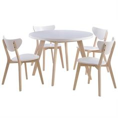 Buy Kayla Wooden Round Dining Table (Table Only) from LivingStyles for Australia wide delivery. Dia round table with solid rubberwood timber frame and legs. Table Only. Approximately thick table top. Timber Dining Table, 4 Dining Chairs, Dining Room Table, Table And Chairs, Round Dining Set, 5 Piece Dining Set, Loft Furniture, Stackable Chairs, Colorful Chairs