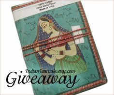 Handmade #Giveaway! Enter to win choice of ruled journal from Indian Journals by 11:59pm EST on November 30, 2014.