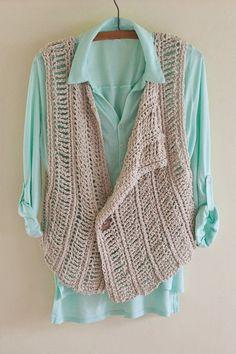 Crochet Pattern Crochet Vest Pattern Spring Cover Up Pattern