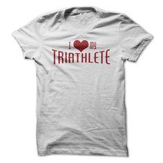 I love my Triathlete T Shirts, Hoodie. Shopping Online Now ==► https://www.sunfrog.com/Fitness/Love-My-Triathlete-Tee.html?41382