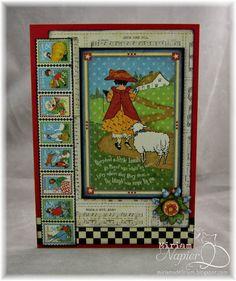 Miriam's Delirium. Graphic 45 mother goose paper card.