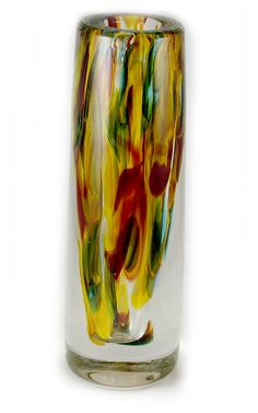 Mixed Red Yellow and Green Bullet Vase