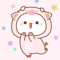 Cute Kawaii Animals, Cute Animal Drawings Kawaii, Cute Cartoon Drawings, Kawaii Cat, Anime Kawaii, Gato Anime, Anime Cat, Chibi Cat, Cute Chibi