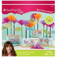 American Girl party craft -- flower pencils!