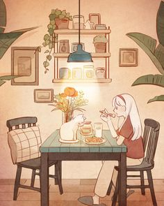 Image shared by tomatoro. Find images and videos about beautiful, art and illustration on We Heart It - the app to get lost in what you love. Art Anime Fille, Anime Art Girl, Cartoon Kunst, Cartoon Art, Art And Illustration, Pretty Art, Cute Art, Aesthetic Art, Aesthetic Anime