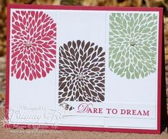 Betsy's Blossoms, Loving Thoughts, & Petal Cone die for banner. Thanks Tammy!